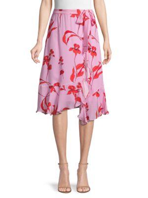 Parker Skirts Floral High-Low Skirt