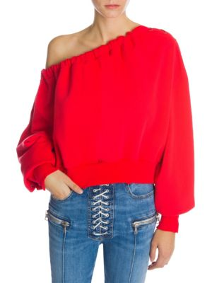 Ben Taverniti Unravel Project Sweaters Asymmetric Lace-Up Cropped Sweater