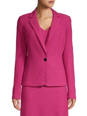 St. John Blazers Wool-Blend One-Button Blazer