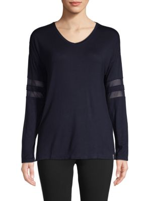 Marc New York Long-Sleeve Mesh Tee In Stormy Night