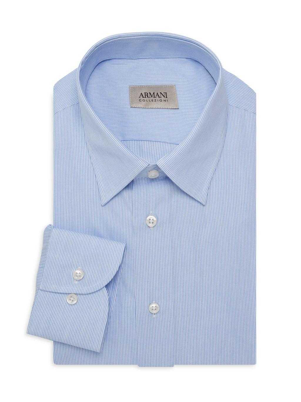 Armani Collezioni Hairline Stripe Dress Shirt