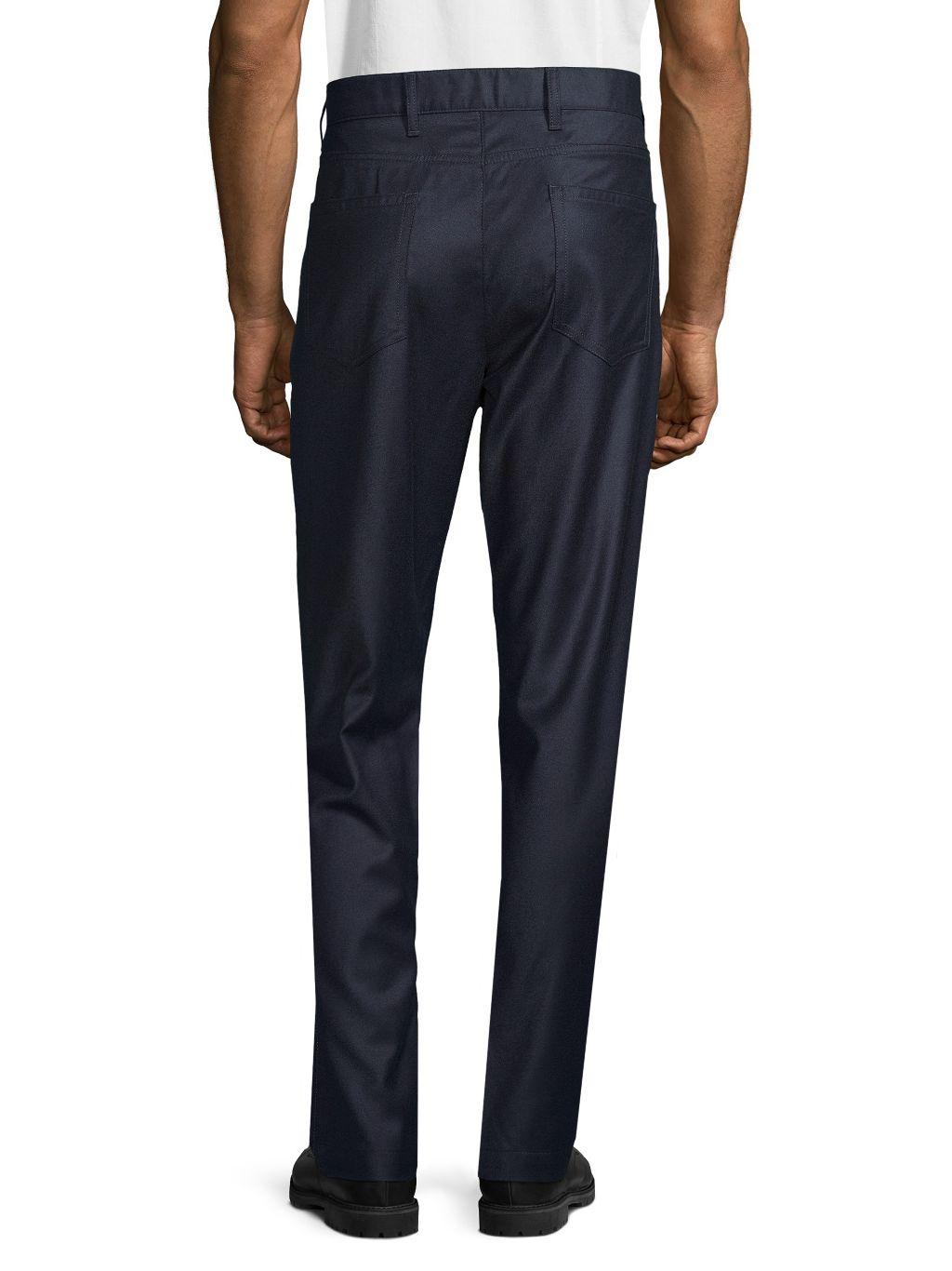 Saks Fifth Avenue Standard-Fit Wool & Cashmere-Blend Pants