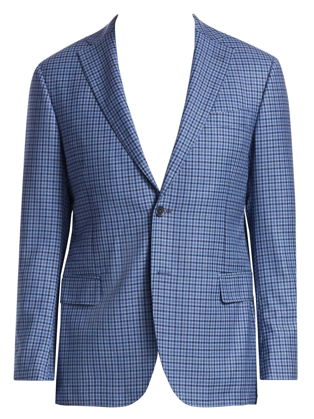 Saks Fifth Avenue COLLECTION District Check Wool Sportcoat