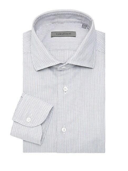 Corneliani Broken Stripe Dress Shirt