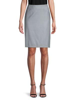 Giorgio Armani Skirts Wool Pencil Skirt