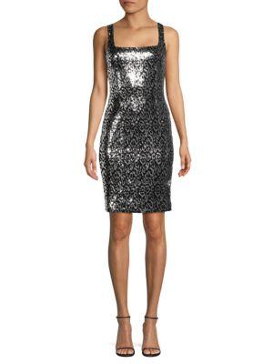 Black Halo Dresses Lilo Sequin Sheath Dress
