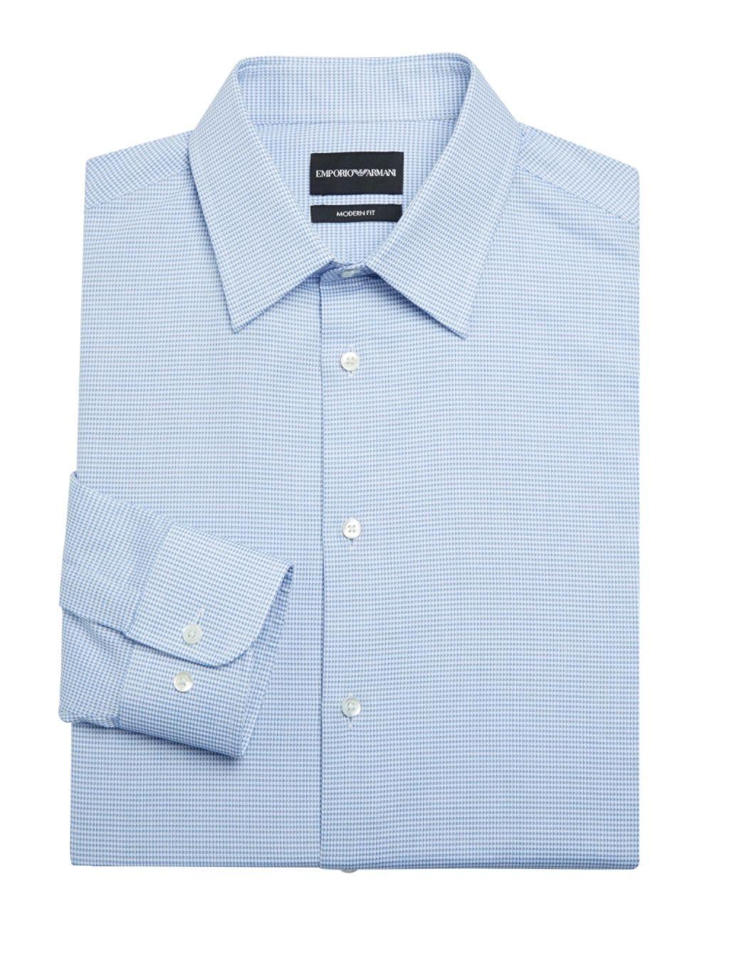 Emporio Armani Modern-Fit Cotton Button-Down Shirt