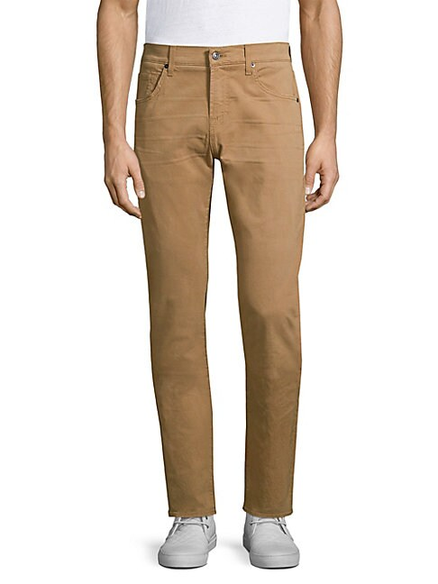 7 For All Mankind Cottons TOTAL TWILL THE STRAIGHT SLIM CHINOS