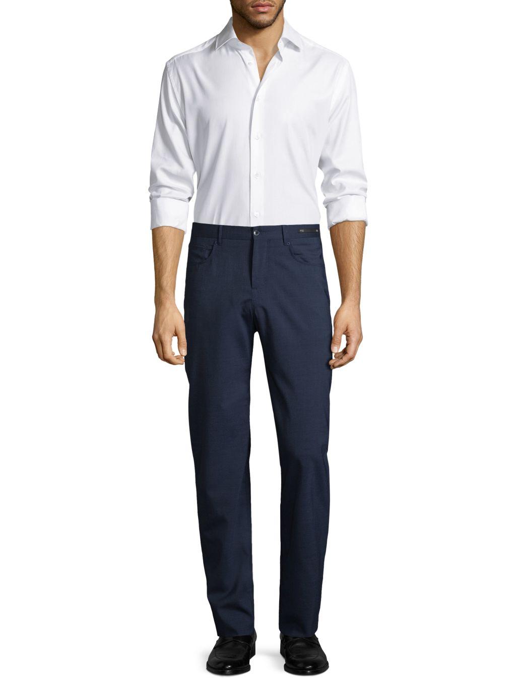 PT01 Dressy Five-Pocket Techno Wool Pants