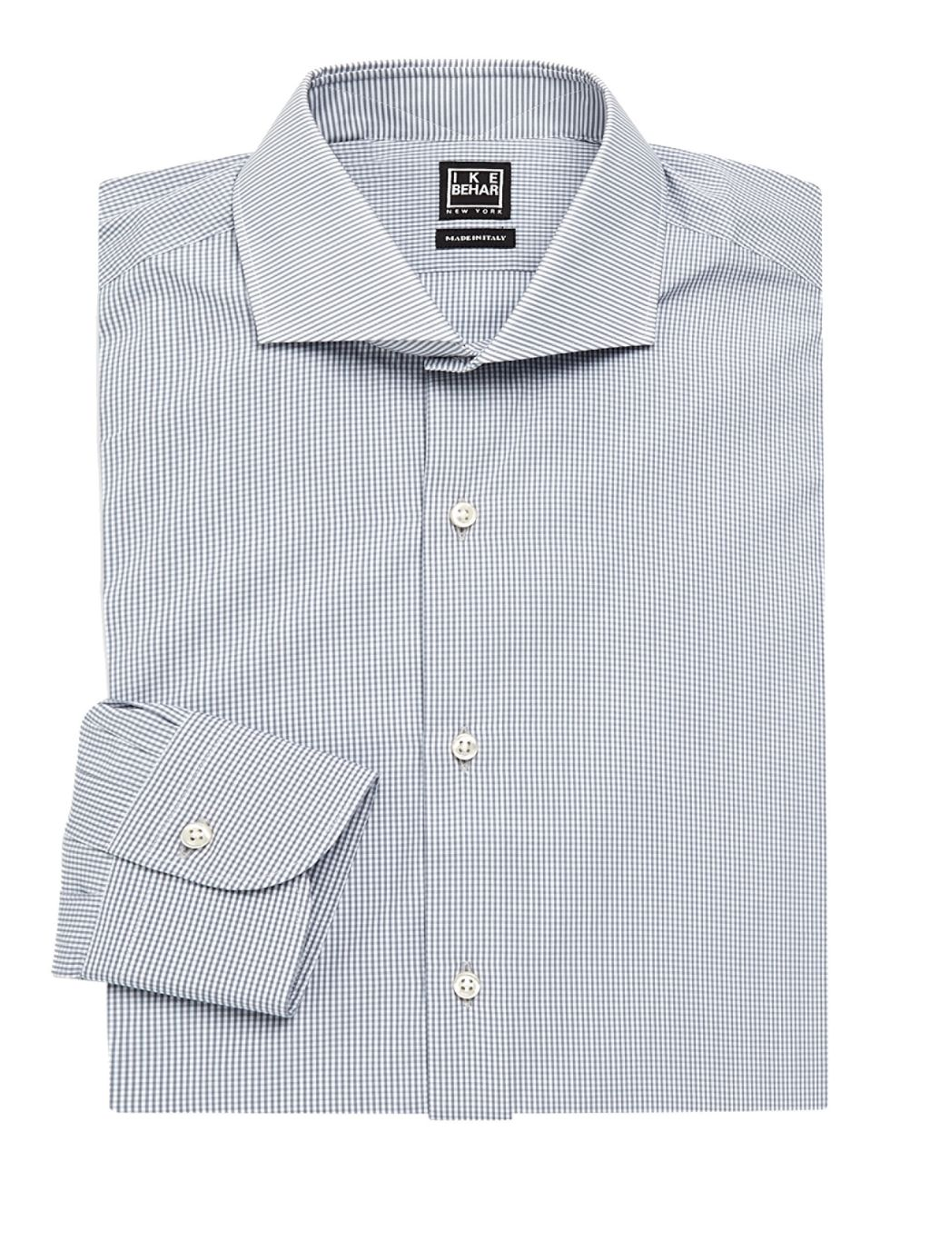 IKE by Ike Behar Modern-Fit Check Dress Shirt