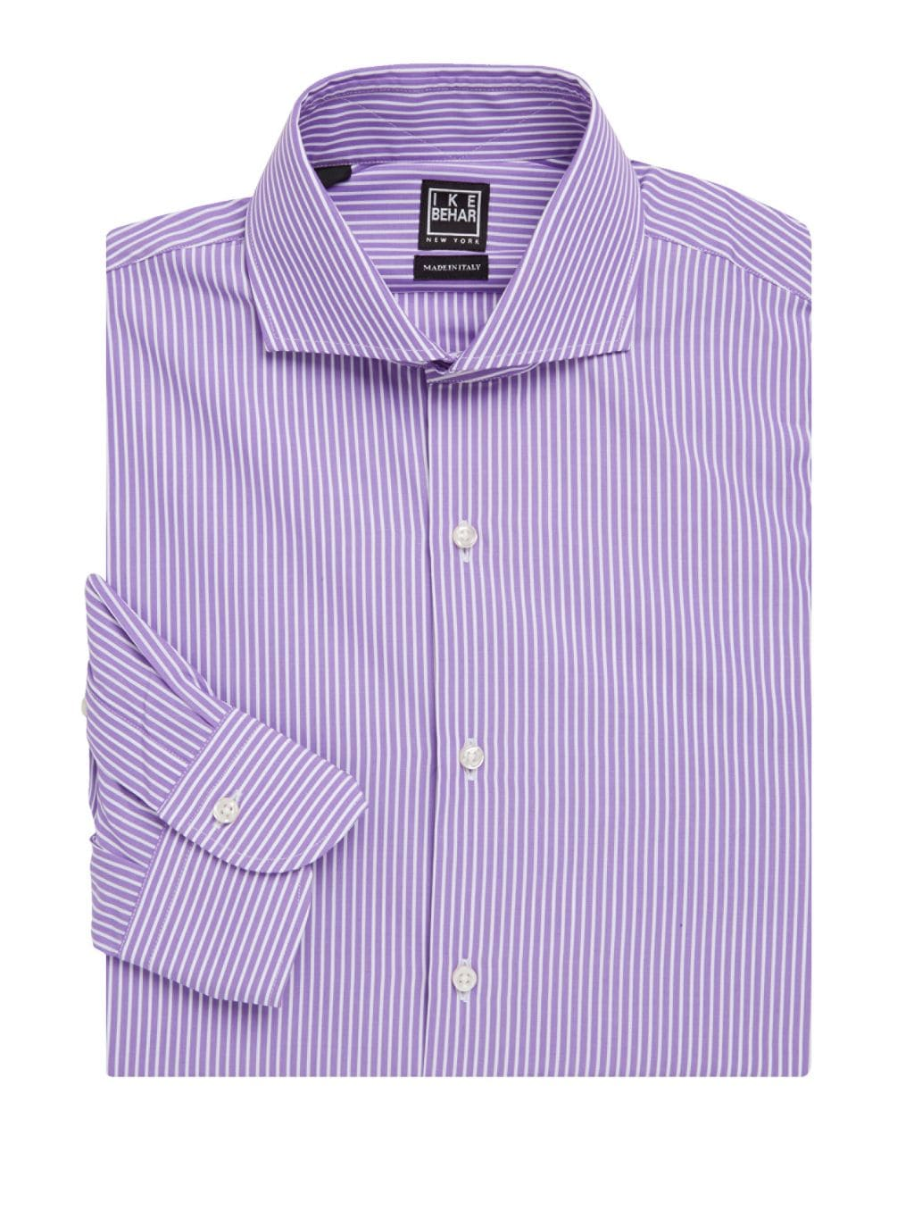 IKE by Ike Behar Striped Button-Front Shirt