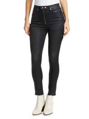 Rag & Bone Coats Baxter Skinny High-Rise Coated Jeans