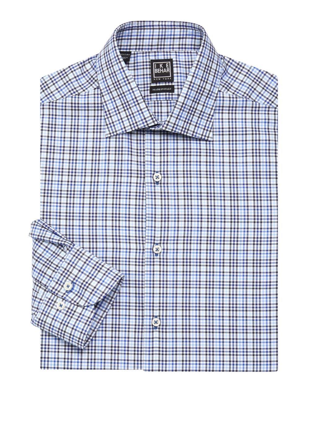 IKE by Ike Behar Check Dress Shirt