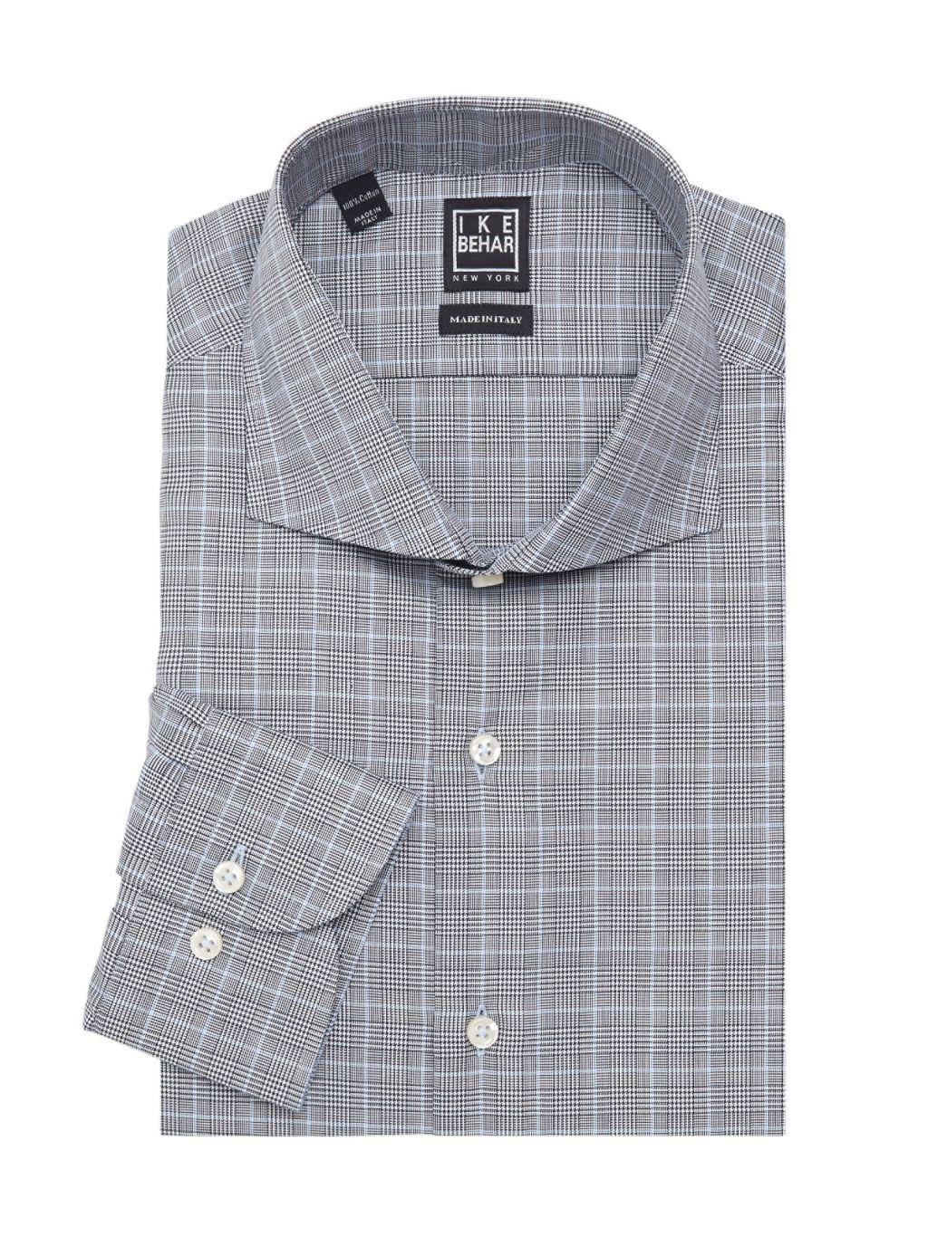 IKE by Ike Behar Fredrick Plaid Collared Shirt