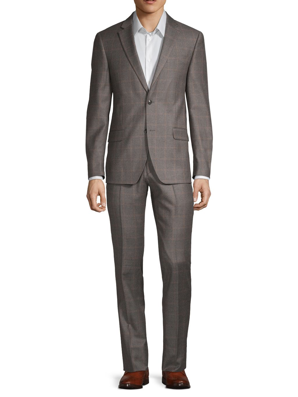 Tommy Hilfiger Slim-Fit Windowpane Check Wool Suit