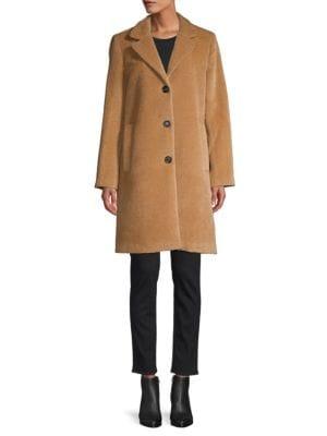Jane Post Coats Single-Breasted Alpaca & Wool Boy Coat