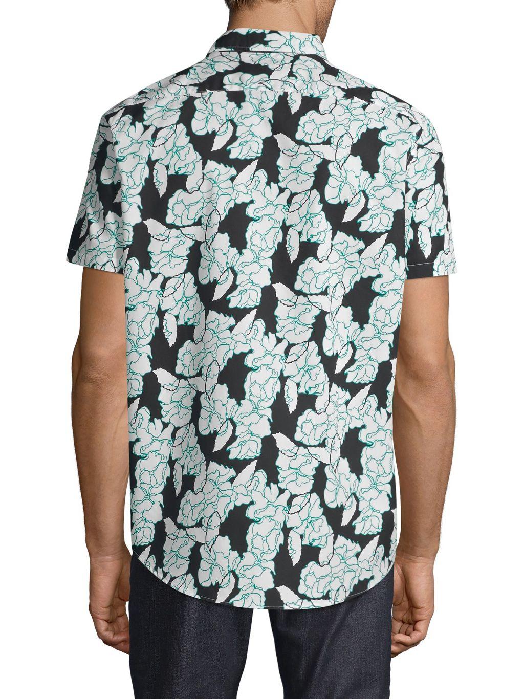 Michael Kors Frye Classic-Fit Floral Cotton Shirt