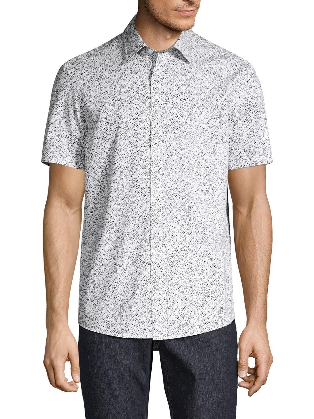 Michael Kors Edan Classic-Fit Floral Cotton Shirt