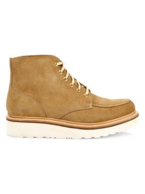 Grenson Boots Buster Suede Wedge Boots