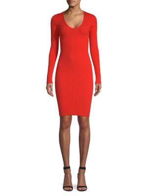 Victor Glemaud Cutout Sleeve Knit Dress