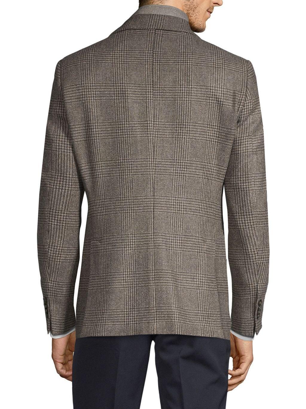 Lubiam Standard-Fit Plaid Wool Sportcoat