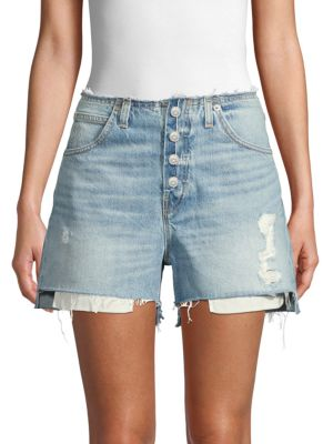 Hudson Shorts Sloane Relaxed Distressed Denim Shorts