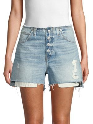 Hudson Shorts Sloane Relaxed Distressed Denim Shorts