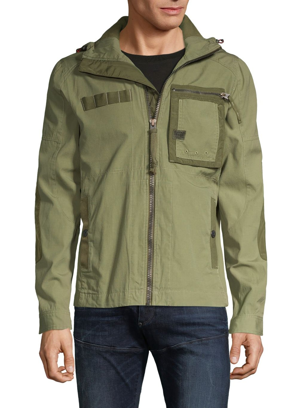 G-Star RAW Hooded Cotton-Blend Jacket