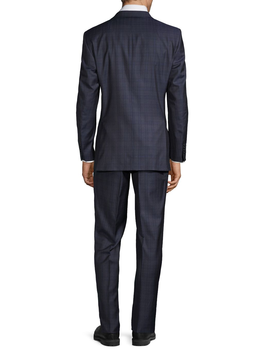 Saks Fifth Avenue Made in Italy Tailored-Fit Plaid Wool Suit