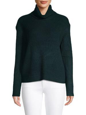 Sanctuary Shaker Turtleneck Sweater In Green