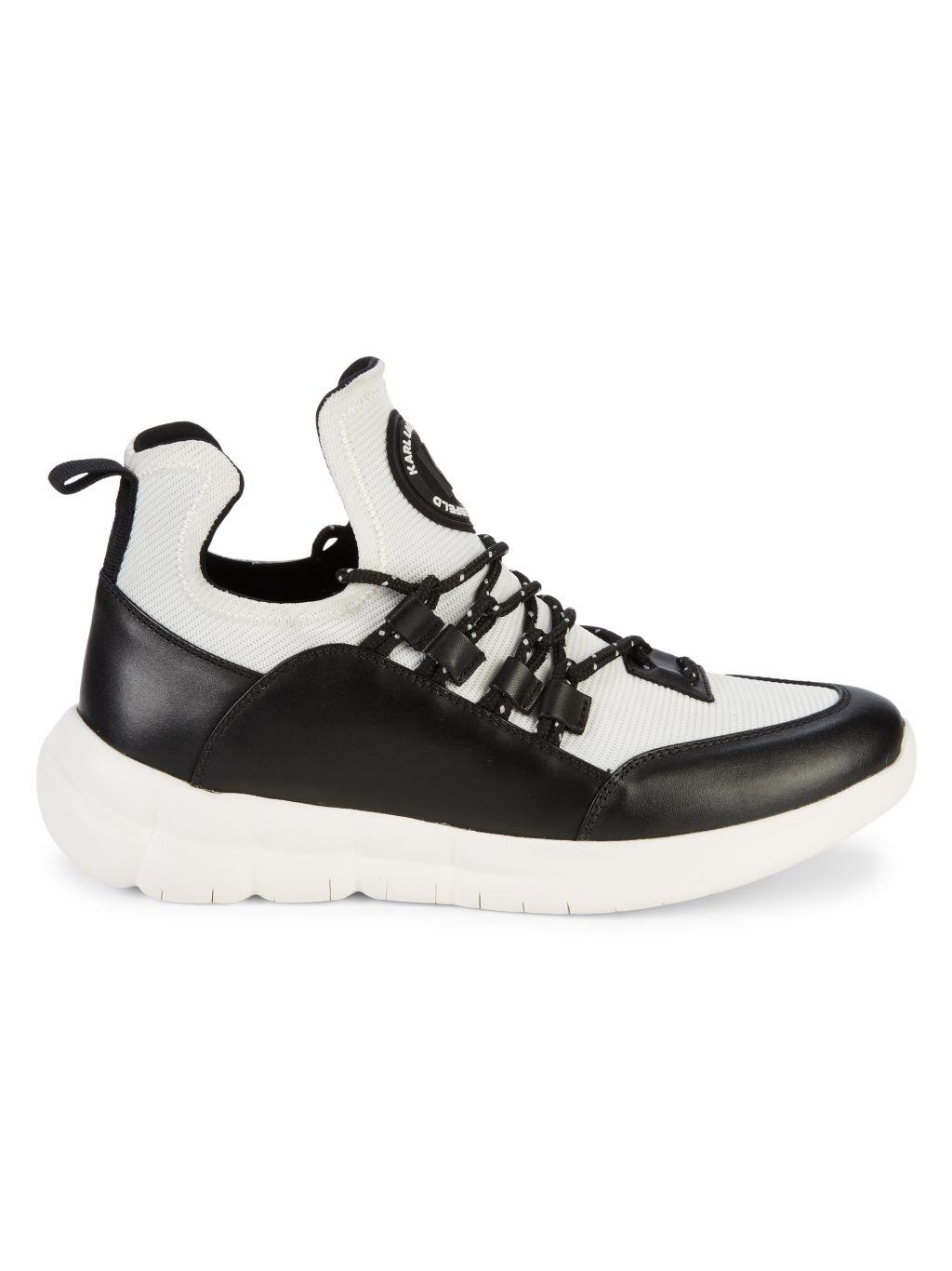 Karl Lagerfeld Paris Colorblock Logo Sneakers