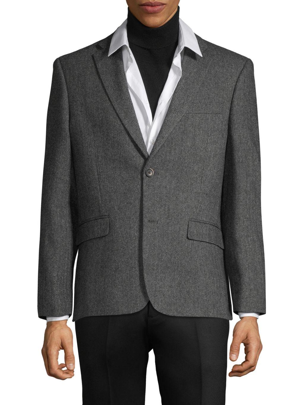 Tommy Hilfiger Standard-Fit Wool-Blend Blazer