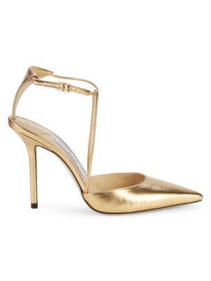 Jimmy Choo Metallic Sandals In Gold