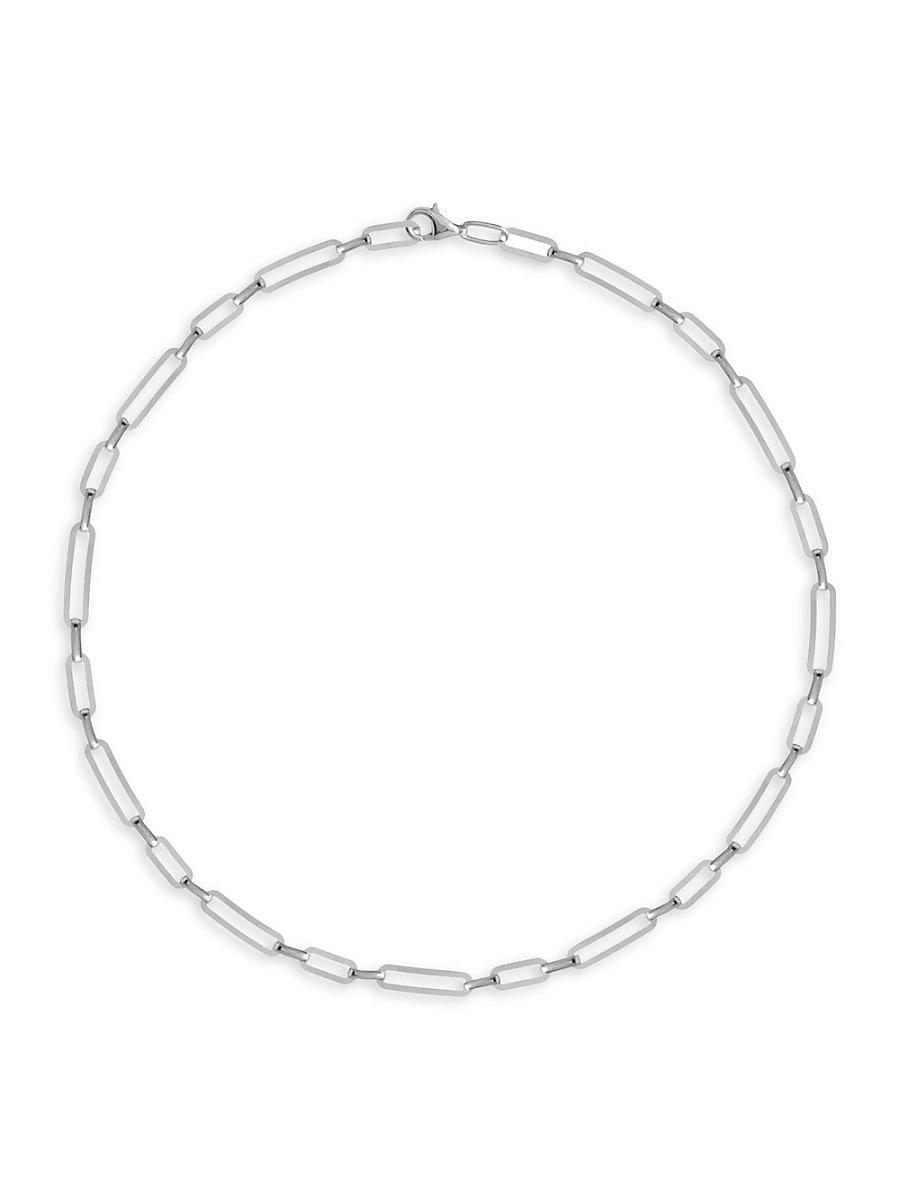 Women's Sterling Silver Choker Necklace