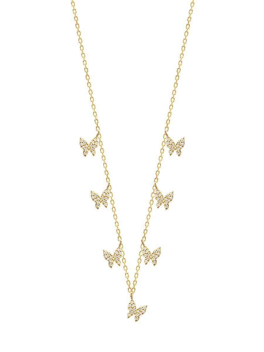 Women's 22K Gold Vermeil & White Crystal Necklace