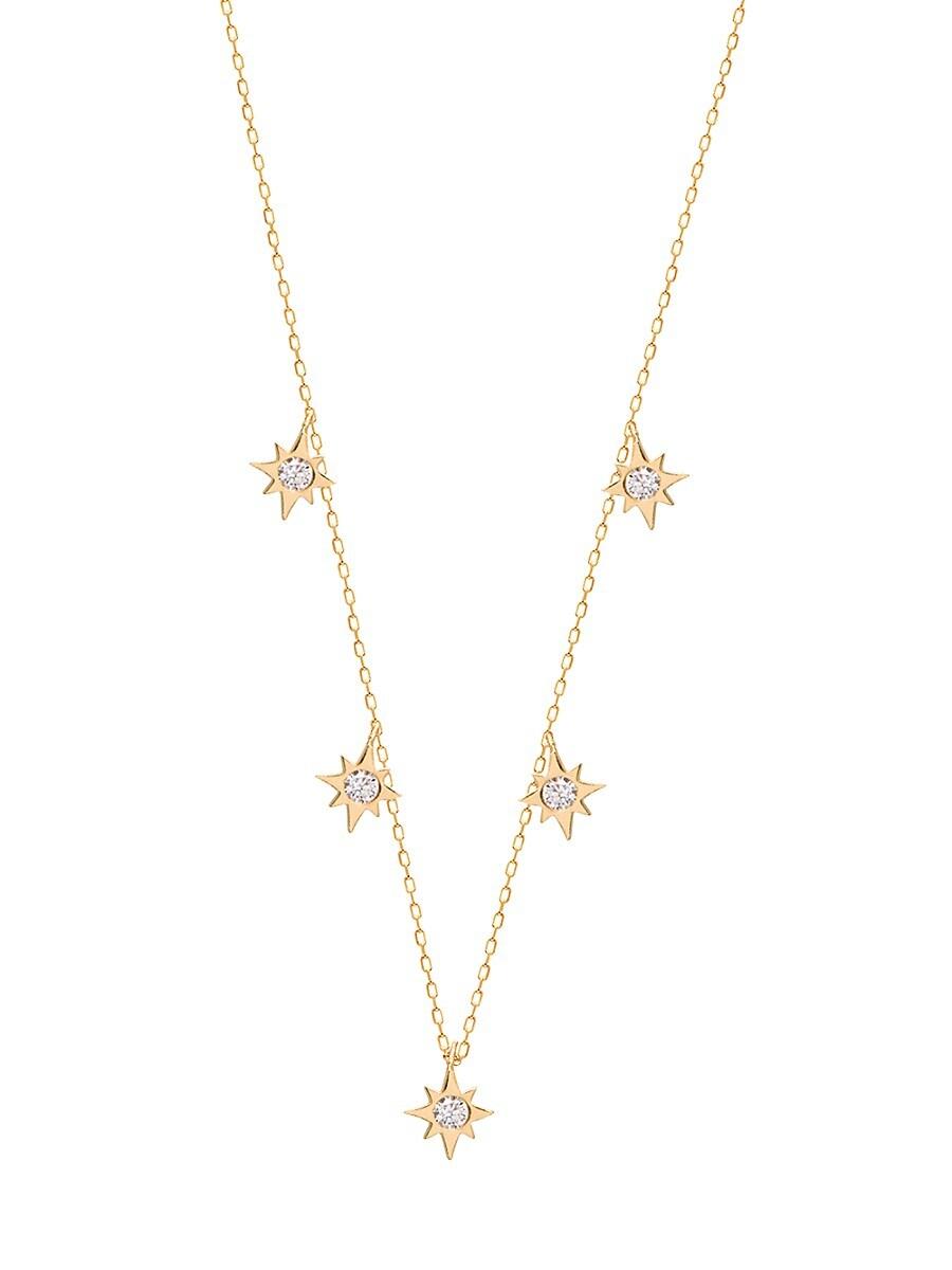Women's 22K Gold Vermeil & Crystal Starburst Pendant Necklace