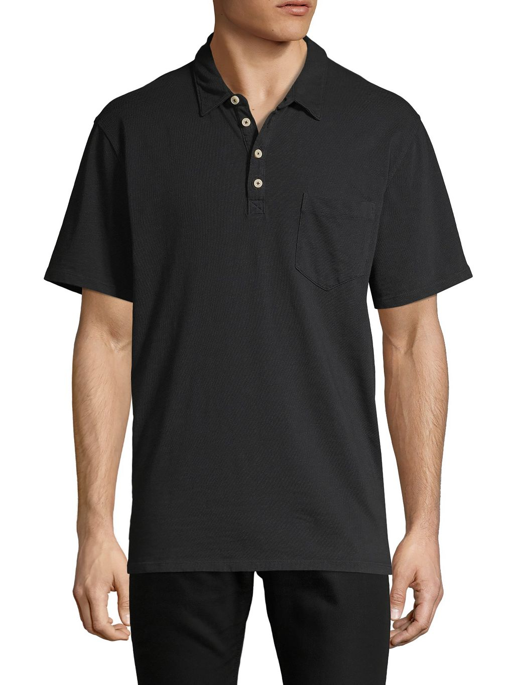 7 For All Mankind Short-Sleeve Cotton Polo