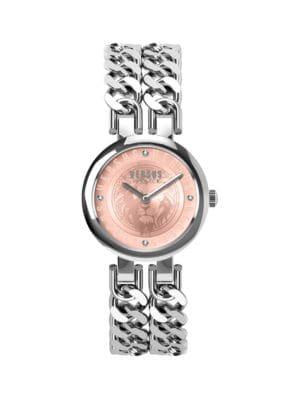 Versus Watches Berlin Stainless Steel & Swarovski Crystal Bracelet 2-Hand Watch
