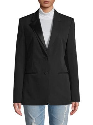 Helmut Lang Blazers Notch Lapel Wool-Blend Blazer
