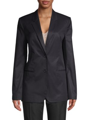 Helmut Lang Blazers Long-Sleeve Cotton Blazer
