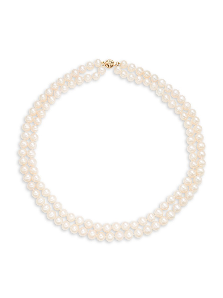 Women's 14K Yellow Gold & 7-8MM Pearl Necklace