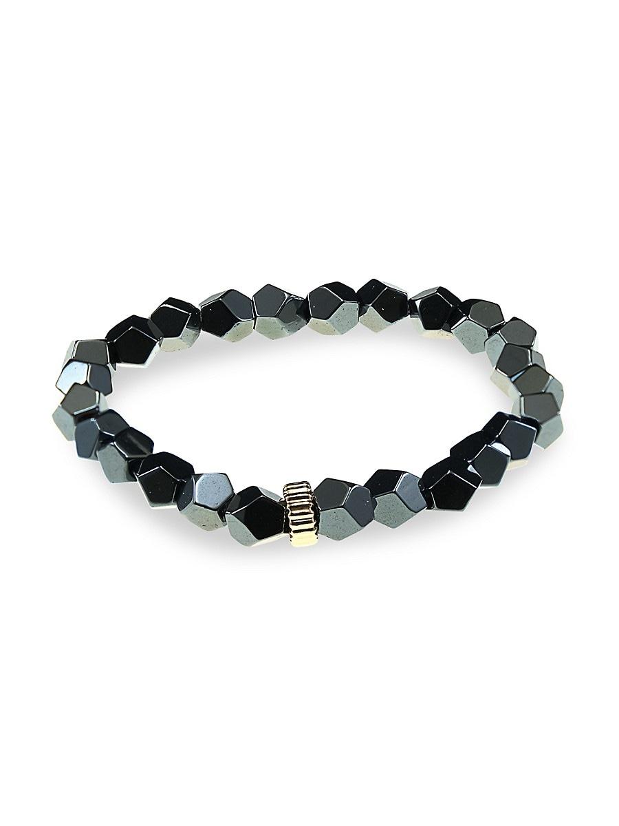 Men's Hematite Stretch Bracelet