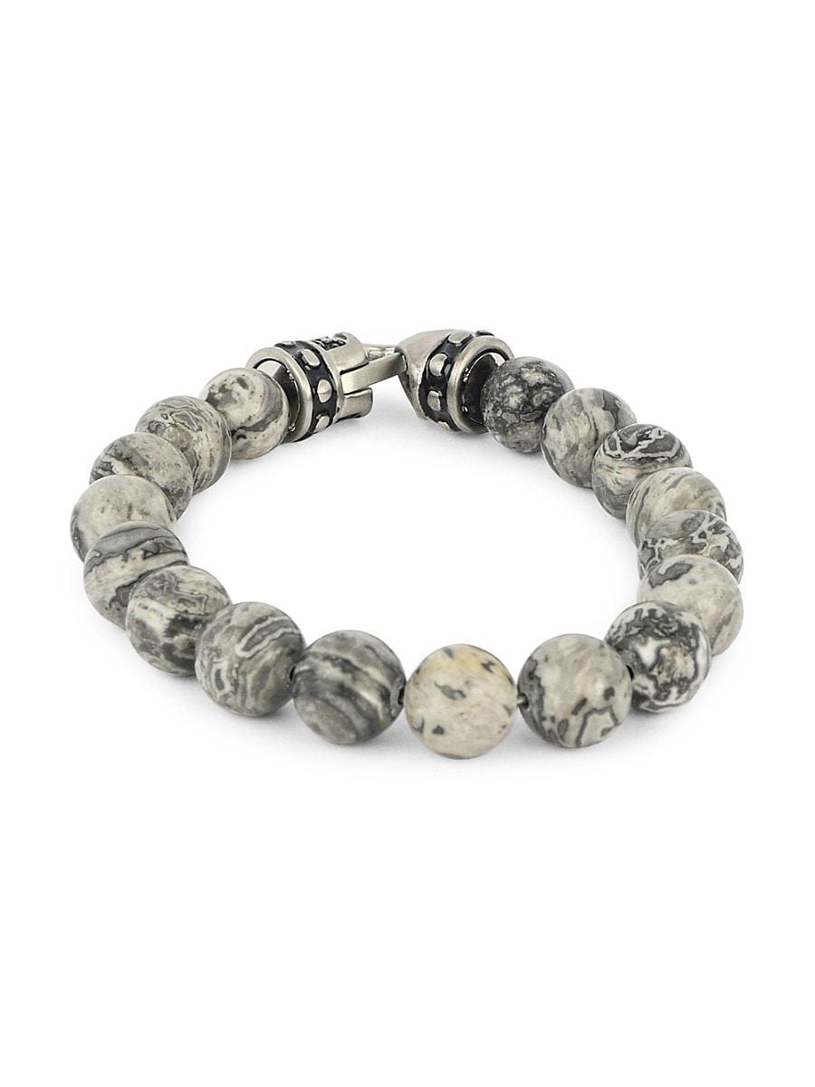 Men's Stainless Steel Beaded Bracelet