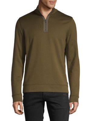 Hugo T-shirts Long-Sleeve Cotton-Blend Sweatshirt