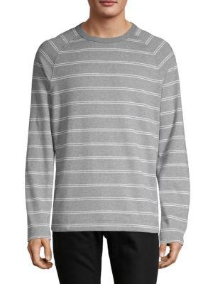 Hugo T-shirts Striped Cotton Long-Sleeve Sweatshirt