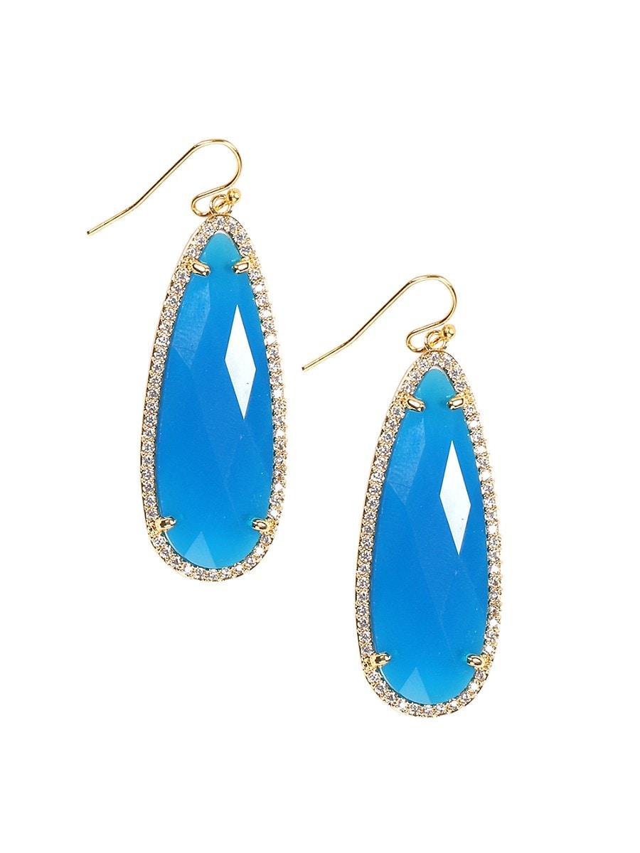 Women's Luxe Goldtone & Crystal Drop Earrings