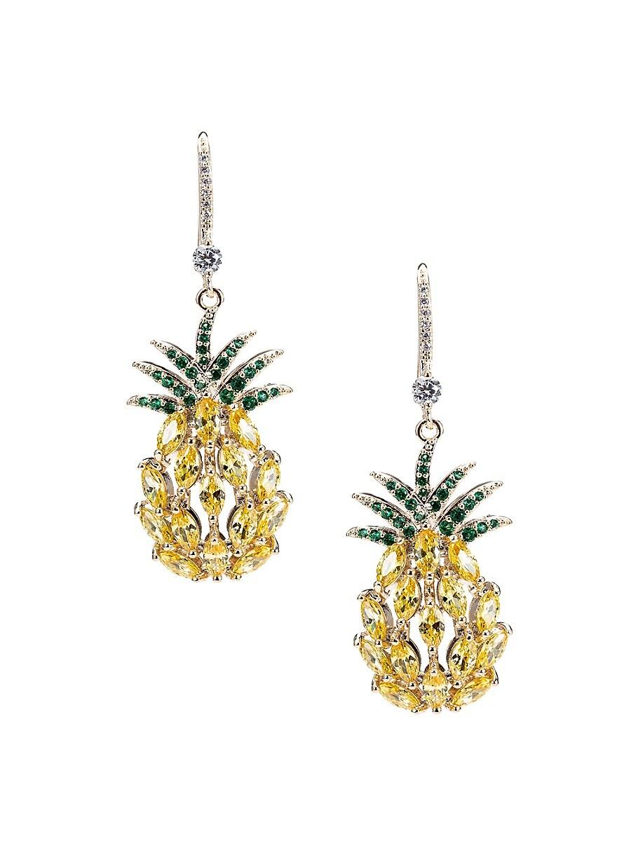 Women's Luxe Crystal Pineapple Drop Earrings