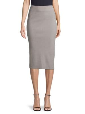 James Perse Skirts Ribbed Cotton-Blend Pencil Skirt
