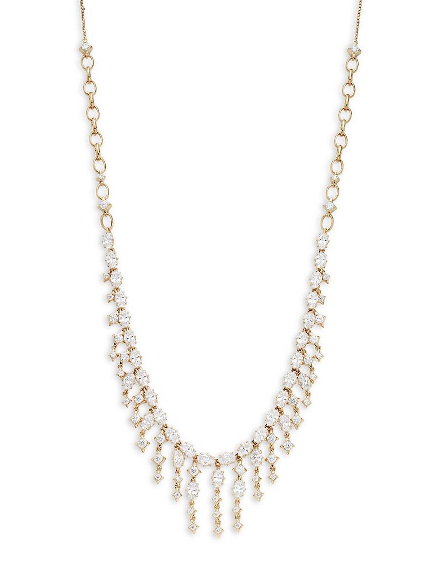 Women's Goldtone & Crystal Boho Necklace