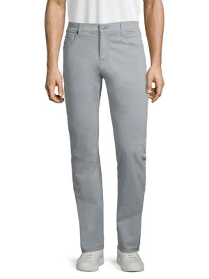 7 For All Mankind Adrien Slim Straight Jeans In Light Grey